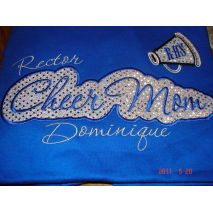 Cheer Mom Applique Script stitched by A.J. Stitches