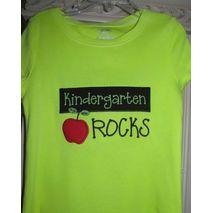 Kindergarten Rocks stitched by Shirley Clark
