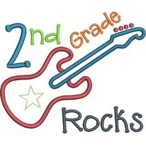 2nd Grade Rocks Applique Snap Shot