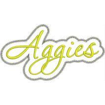 Aggies Applqiue Script Zig Zag Snap Shot