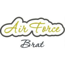 Air Force Brat Applique Satin Snap Shot