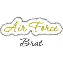 Air Force Brat Applique Zig Zag Snap Shot