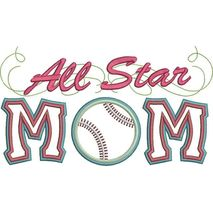 All Star Baseball Mom Applique with a Twist Snap Shot