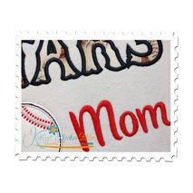 Allstars Baseball Mom Applique Close Up