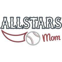 Allstars Baseball Mom Applique Snap Shot