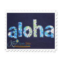 Aloha Reverse Applique Close Up