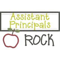 Assistant Principals Rock Chalkboard Applique Snap Shot