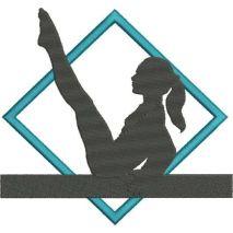 Gymnast Abstract Applique Snap Shot
