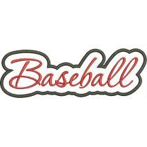 Baseball Applique Script Satin Snap Shot