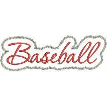 Baseball Applique Script Zig Zag Snap Shot