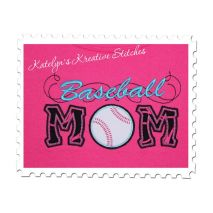 Baseball Mom Applique with a Twist