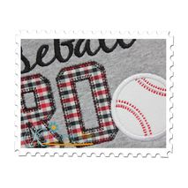 Baseball BRO Applique Close Up