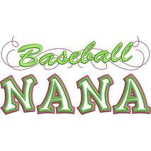Baseball Nana Applique Snap Shot