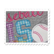 Baseball SIS Applique Close Up