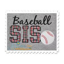 Baseball SIS Applique Vintage Zig Zag