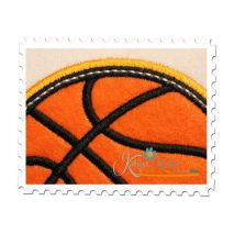 Basketball Applique Double Satin Close Up