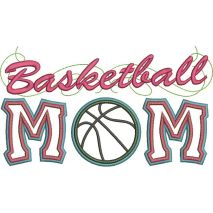 Basketball Applique Mom with a Twist Snap Shot