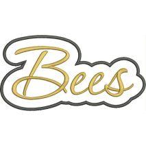 Bees Applique Script Satin Snap Shot