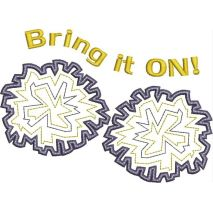 Bring It On Cheer Applique Snap Shot