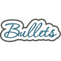 Bullets Applique Script Satin Snap Shot