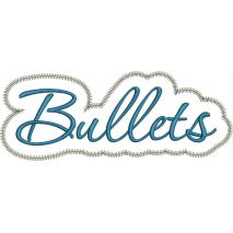 Bullets Applique Script Zig Zag Snap Shot