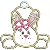 Girl Bunny Applique Snap Shot