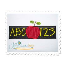 ABC 123 Chalkboard Applique