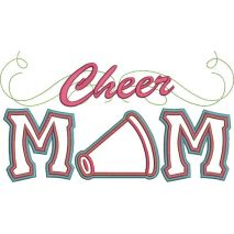 Cheer Mom Applique with a Twist Snap Shot