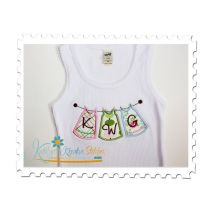 Clothesline Applique Tank Top