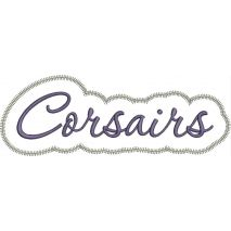 Corsairs Applique Script Zig Zag Snap Shot