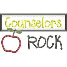 Counselors Rock Chalkboard Applique Snap Shot