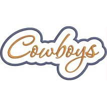 Cowboys Applique Script Satin Snap Shot