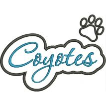 Coyotes Applique Script Satin Snap Shot