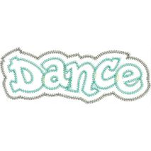 Dance Double Layer Applique Zig Zag Snap Shot