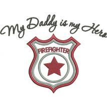 Firefighter Applique Snap Shot - Text included