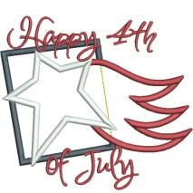 Happy 4th of July Applique Snap Shot