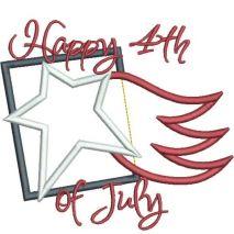 Happy 4th of July Applique Snap Shot