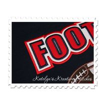 Football Text Applique Close Up