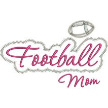 Football Mom Applique Script Zig Zag Snap Shot