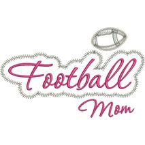 Football Mom Applique Script Zig Zag Snap Shot