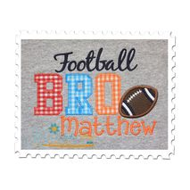 Football BRO Applique