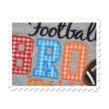 Football BRO Applique Close Up