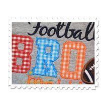 Football BRO Applique Close Up