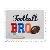 Football BRO Applique 4x4 Satin