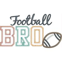 Football BRO Applique Snap Shot