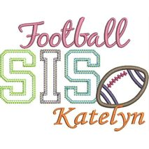 Football SIS Applique Snap Shot (Katelyn text is not included.)