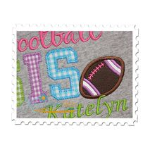 Football SIS Applique Close Up