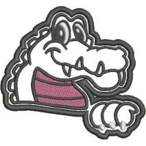 Gator Mascot Applique Snap Shot