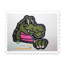 Gator Mascot Fill Stitch