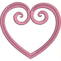 Heart Scroll Applique Snap Shot